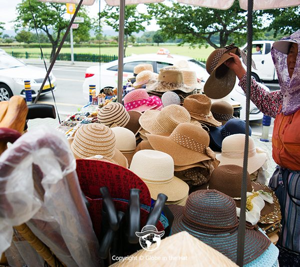 Korean hats' seller