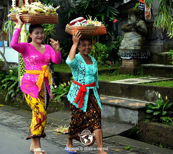 Women in traditional Balinese dress, Bali, Indonesia