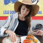 Lalapan Street Food in Bali, Indonesia. Globe in the Hat